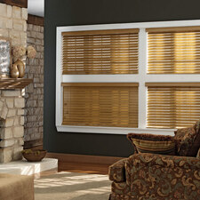 Oak Colored Wood Blinds