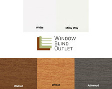 Budget  Cordless Faux Wood Blinds Sample Swatches