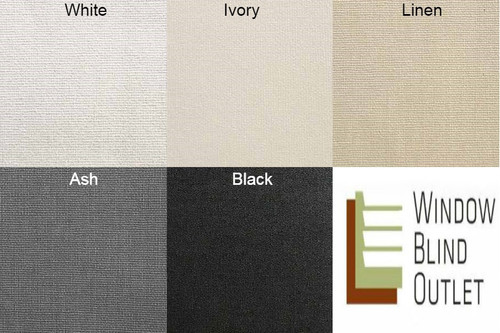 Blackout roller shade color swatches