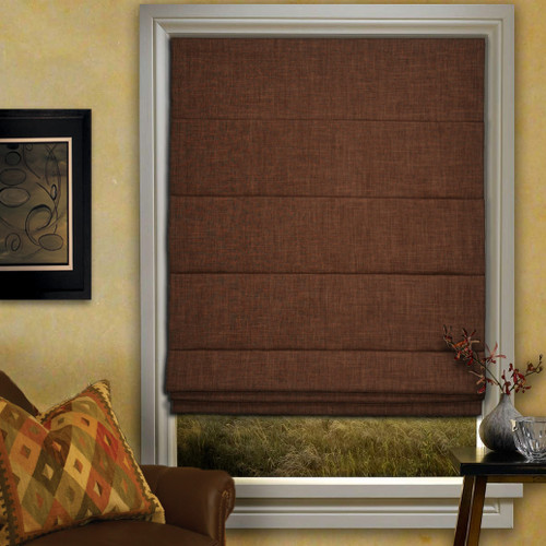 Room Darkening Roman Shade - Tobacco