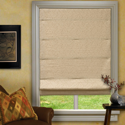 Floating Vine Roman Shade in Ivory