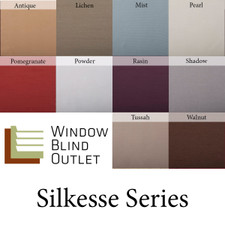 Silkesse Roman Shade Color Swatches