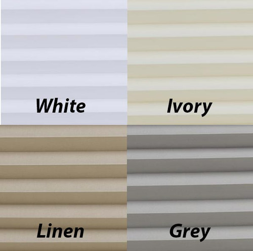 Cordless Pleated Sailcloth Swatches