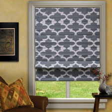 Finn Roman Shade in Cool Grey