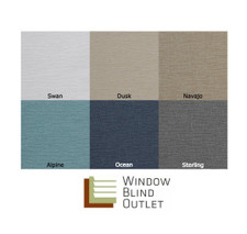 Roman Shade Tolum Series Color Swatches