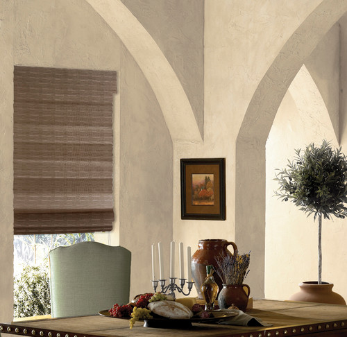 Cordless Wicker Look Woven Shades