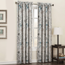 Clyde Printed Floral Room-Darkening Curtain Panel