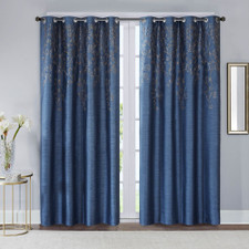 Evelyn Sequined Embroidered Window Curtain Panel