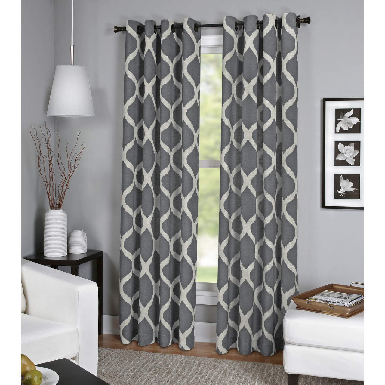 Luna Natural Linen Look Window Curtain Panel Window