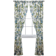 Floral Engagement Window Curtain Panel Pair