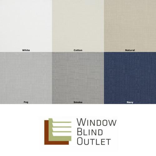 Aura Cordless Roman Shade Color Options