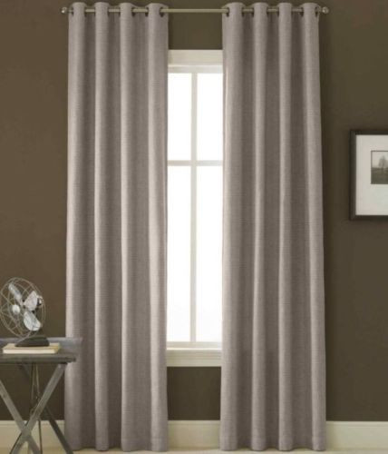 Bennett Thermal Grommet Top Curtain Panel - Lead