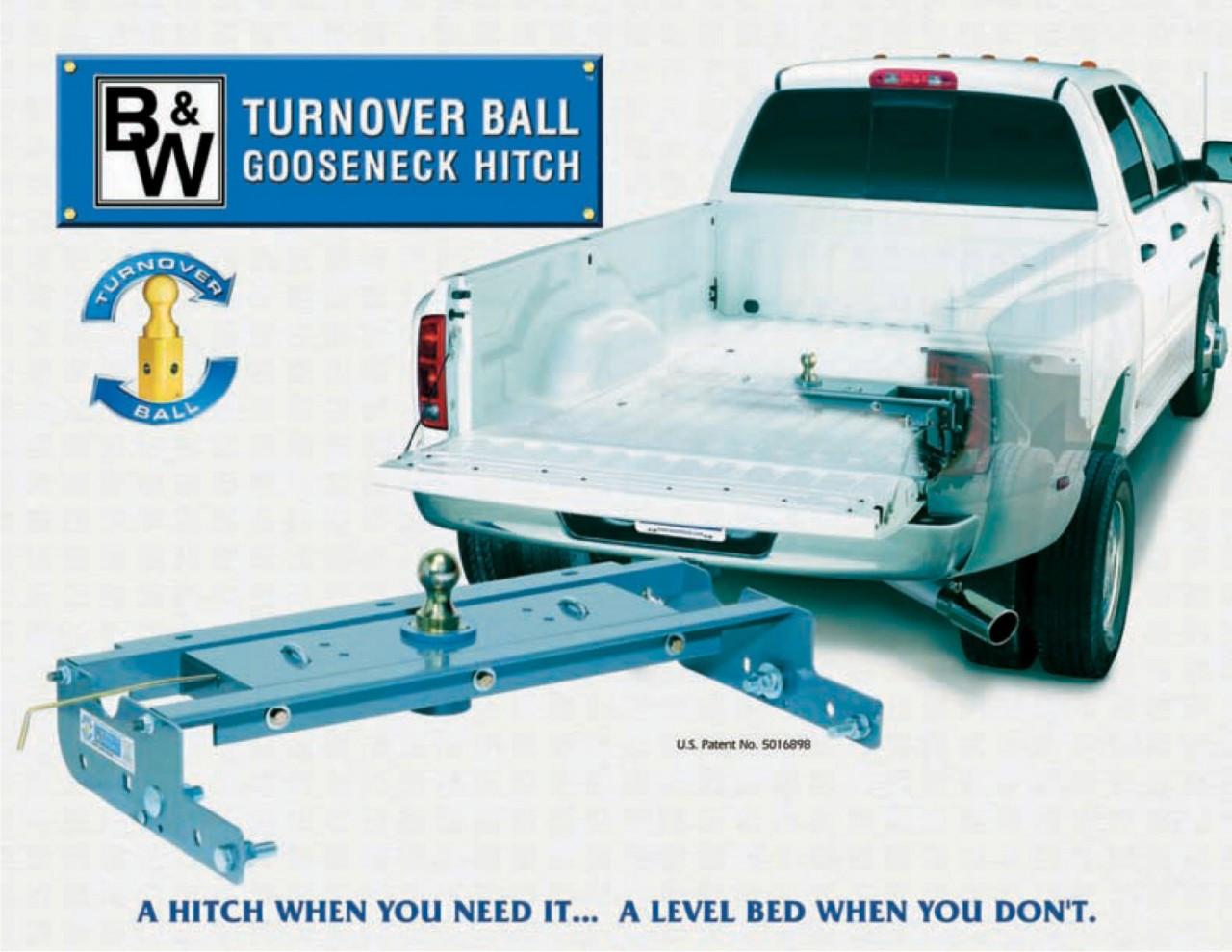 New B W Turnoverball Gooseneck Hitch