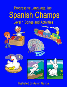 The song and activity book is an excellent resource for teaching children spanish through fun and dynamic songs.