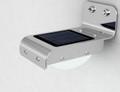 Stainless Steel 16 LED Sensor Wall Mount Solar Light