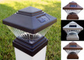 Solar 4 x 4 Square LED PVC Vinyl Fence Post Cap Light
