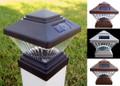 Solar 4 x 4 Square LED PVC Vinyl Fence Post Cap Light