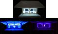 2-Pack White 4 x 4 Fence Post Cap Solar Lights 5 LEDs