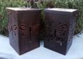 Outdoor Solar Garden Bronze Metal Dragonfly/Butterfly Lantern
