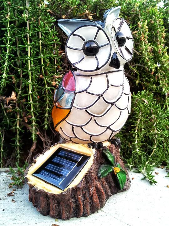 Attractive Solar Mosaic Owl Garden Decor
