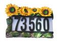Outdoor Solar Sunflowers House Street Address Light 3 LEDs
