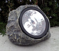 Outdoor Decor Solar Stone Rock Spot Light 3 White LEDs