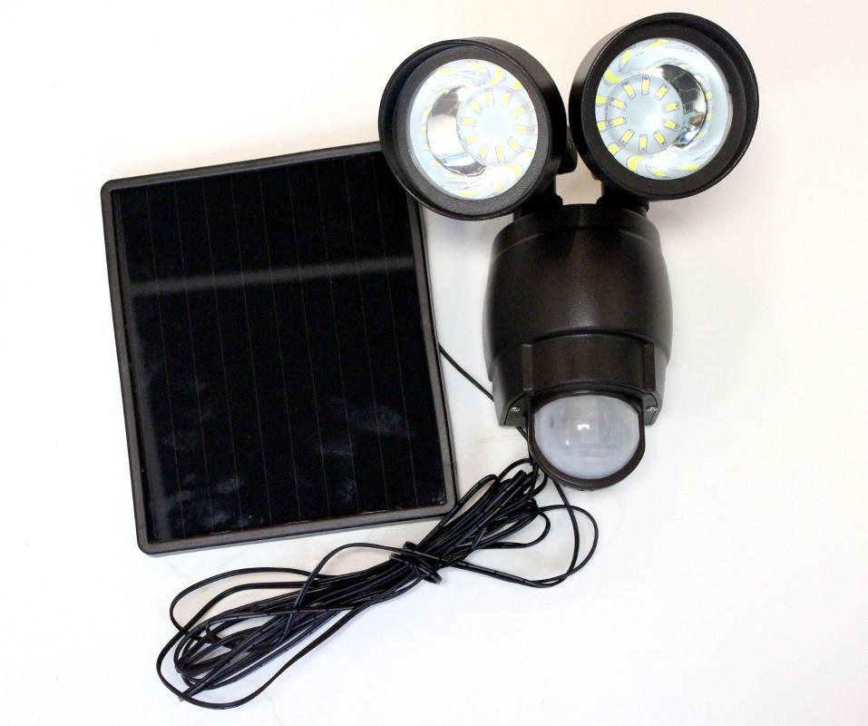 Venetian Bronze Dual Solar Security Motion Sensor Garage