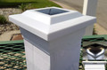 Solar Post Cap 5x5 Black/White Low Profile 4 SMD White LED Light