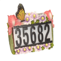 Solar Address House Number Light with Butterflies and Flowers 3  LEDs