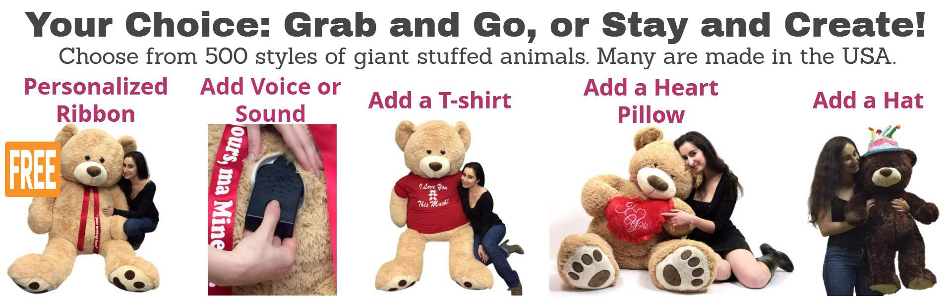 Design your own t shirt made in usa - Create Your Own Giant Stuffed Animal Masterpiece Pick A Size