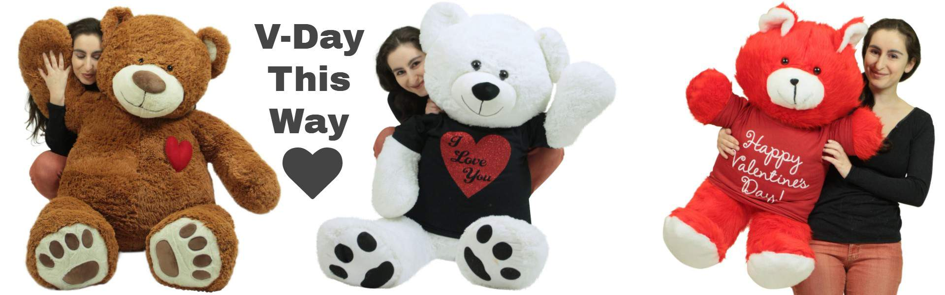 giant valentines day stuffed animals big plush personalized giant teddy bears and custom large stuffed giant valentines
