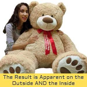 All Big Plush giant teddy bears are given special attention to create a truly premium quality big plush animal.