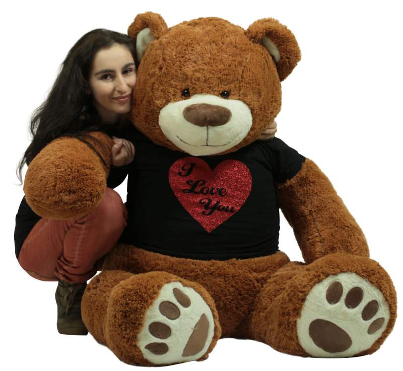 this 5 foot valentines day teddy bear and hundreds more big plush valentine teddy bears are