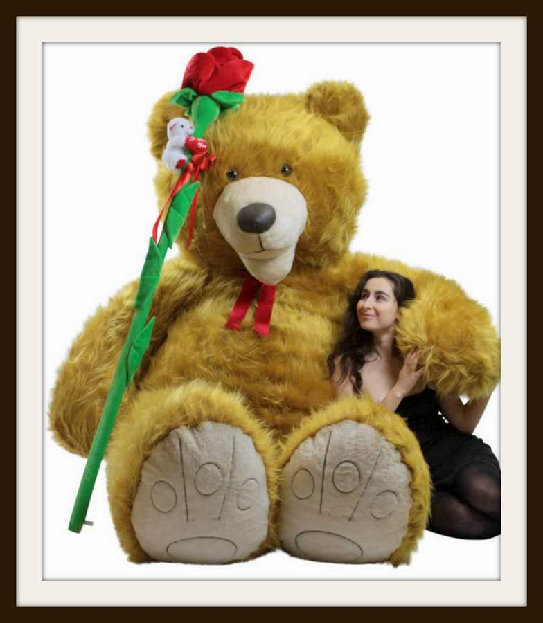 NEW 9 Foot giant teddy bears ar available now. The BIGGEST stuffed animals in the world are at BigPlush.com. See more of this NINE FEET TALL teddy bear, and more of our insanely large stuffed animals and giant teddy bears HERE.