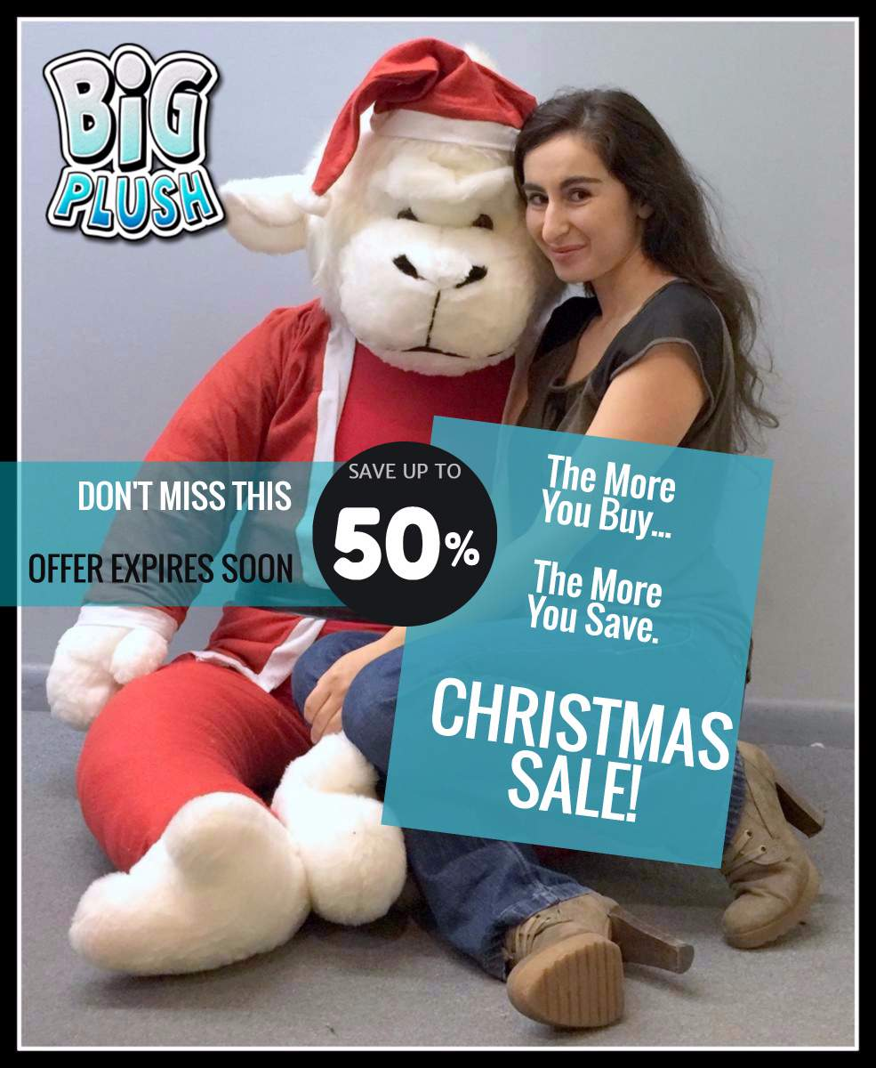 Big Christmas Sale at Big Plush - Save up to half-off now