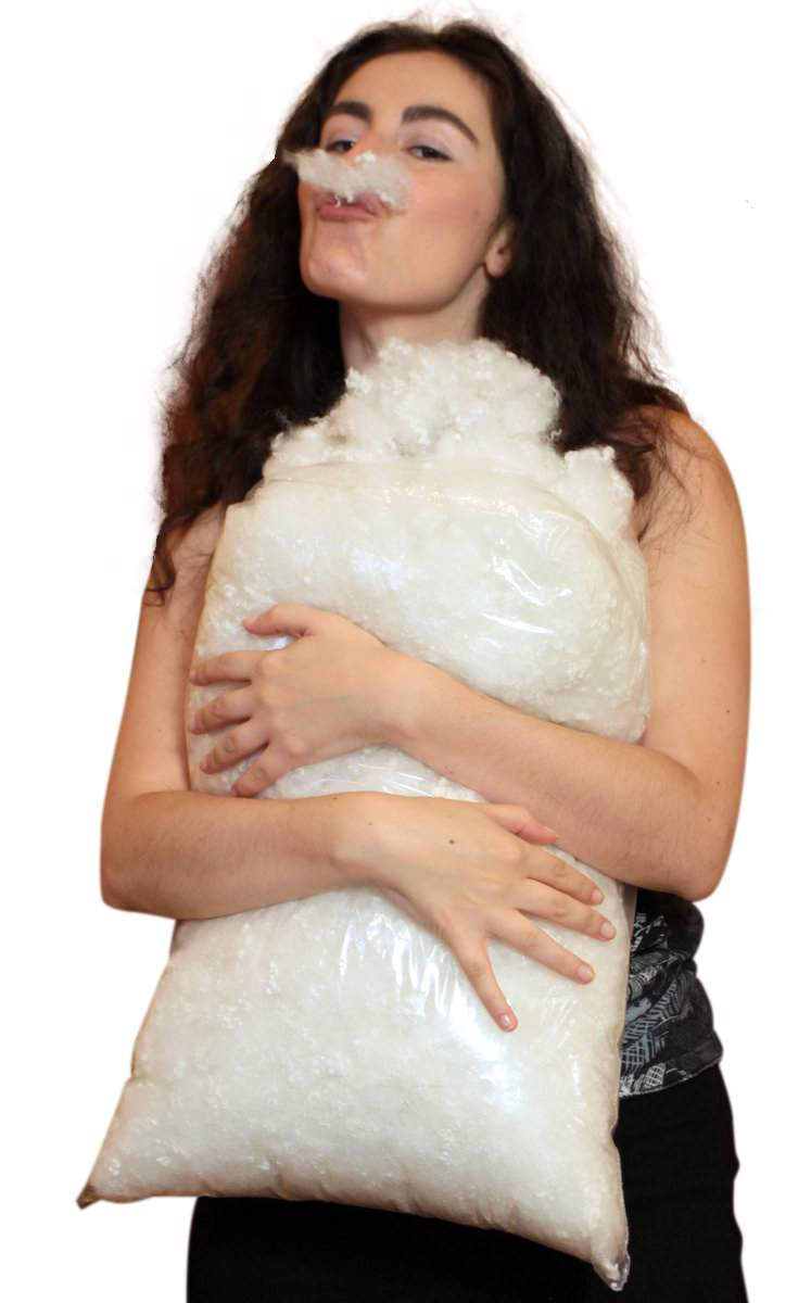 The ultimate, premium-quality, virgin white polyester fiberfill stuffing is made in America, and is only available from Big Plush