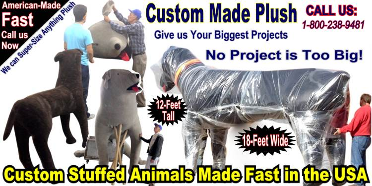BigPlush.com makes custom stuffed animals in the USA! Get a quote Now.
