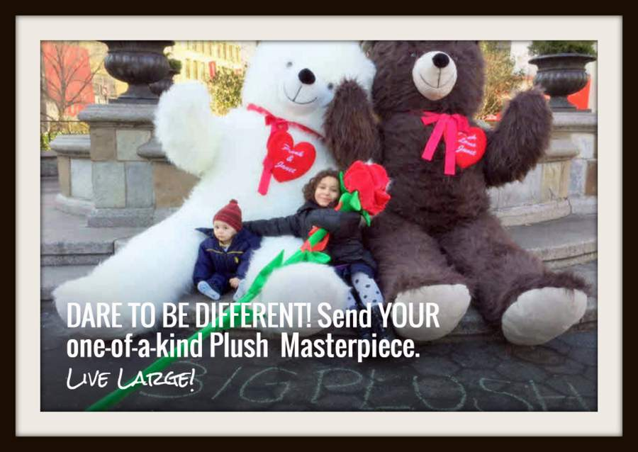 Dare to be different! Celebrate Christmas 2016 and Valentine's Day 2017 with personalized giant teddy bears and giant stuffed animals customized just for you!