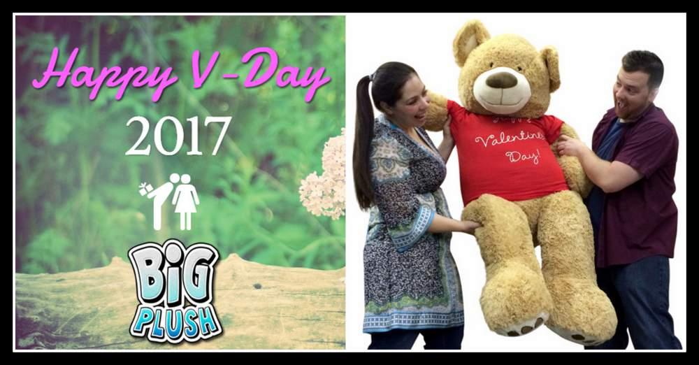 Send Valentine's Day Cheer with a Big Plush Teddy Bear.