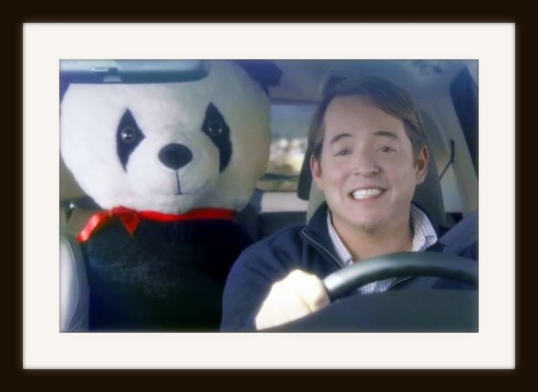 Matthew Broderick stars with Big Plush giant stuffed Panda for a Honda Super Bowl commercial.