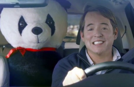 Matthew Broderick stars with Big Plush giant stuffed Panda for a Honda Super Bowl commercial