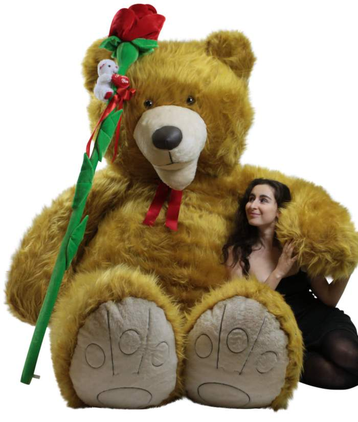Here is one of our NEW 9 Foot giant teddy bears. The BIGGEST stuffed animals in the world are at BigPlush.com. See more of this NINE FEET TALL teddy bear, and more of our insanely large stuffed animals and giant teddy bears HERE.