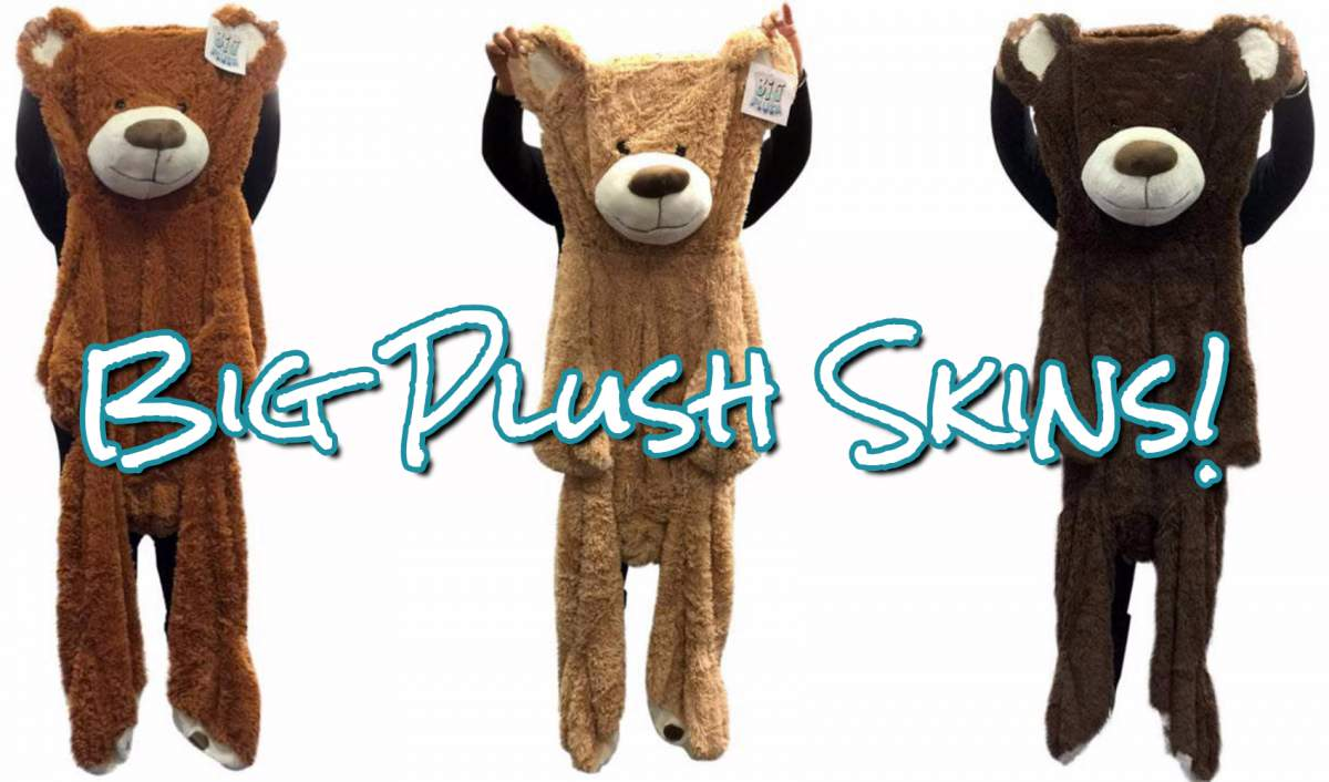 New! Stuff it Yourself with Big Plush Skins! Premium giant teddy bear outer shell skin with zipper opening.