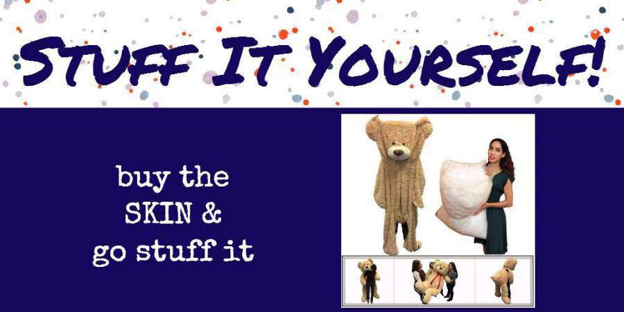 Buy the big plush skin outer shell, and stuff it yourself with Big Plush premium soft polyester fiberfill stuffing