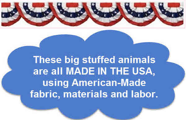 Stuffed Animals and plush toys manufactured in the USA America