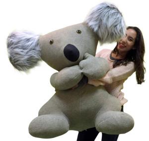 American Made Giant Stuffed Koala 38 Inch Jumbo Soft Plush Animal Made in the USA