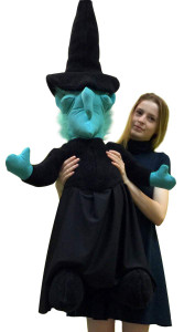 American Made Giant Stuffed Wicked Witch 40 Inches Tall Halloween Big Plush Made in the USA America