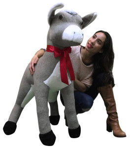 American Made Big Plush Giant Stuffed Donkey 42 Inch Soft Huge Stuffed Animal
