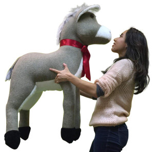 Big Plush Giant Stuffed Donkey 42 Inches Soft Huge Stuffed Animal Brand New