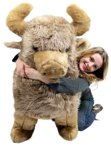 American Made Giant Stuffed Buffalo 44 Inches Soft Huge Big Plush Animal Almost 4 Feet Wide Made in the USA America